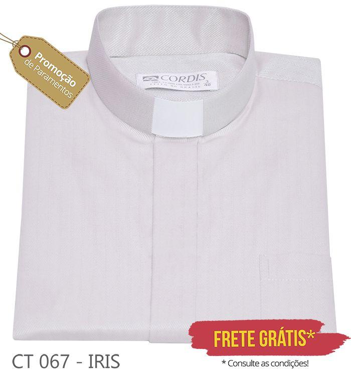 Camisa Clerical Tradicional Irís M/C