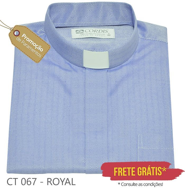 Camisa Clerical Tradicional Royal M/C