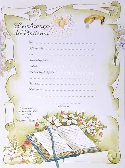 Lembrança do Batismo LB 059 - 10 un