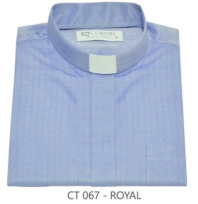 Camisa Clerical Tradicional Royal Manga Curta