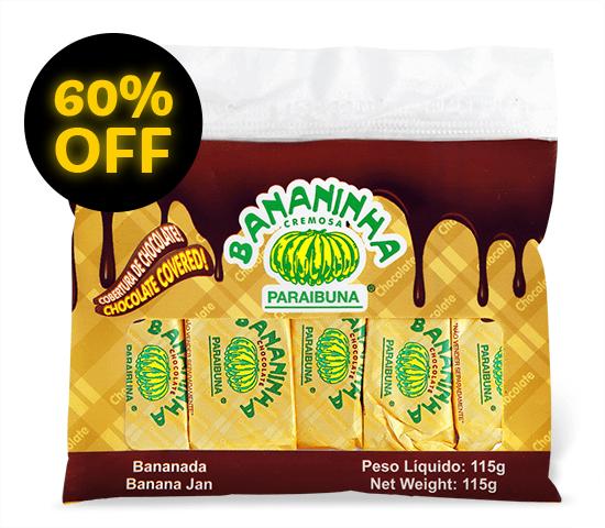 Bananinha Chocolate <br>Pacote 115 g  - Bananinha Paraibuna