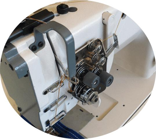 Máquina de 02 Agulhas, Barra Fixa, Lançadeira Grande, Mil Special