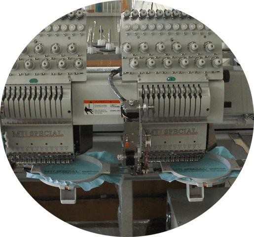 Máquina de Bordar de 02 Cabeças e 12 Agulhas com Lantejoula, Mil Special