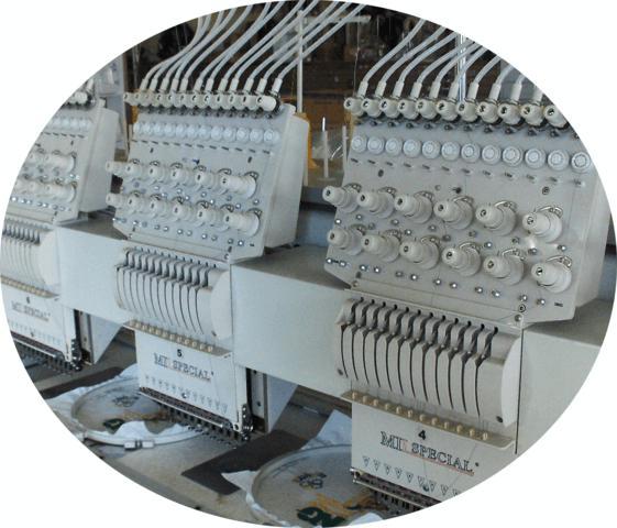 Máquina de Bordar de 06 Cabeças e 12 agulhas com Lantejoula Dupla, Mil Special