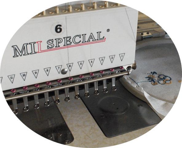 Máquina de Bordar de 06 Cabeças e 12 Agulhas, Mil Special
