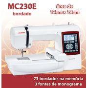 Máquina de Bordar Doméstica da Janome MC230e 14 x 14cm