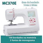 Máquina de Bordar Doméstica da Janome, MC370e, 14 x 20cm