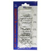 Kit com 60 Rebites em Alumínio da Western