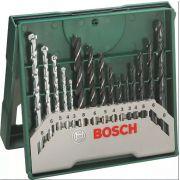 Jogo de Brocas para Madeira/Metal/Concreto com 15 Peças X-Line Bosch