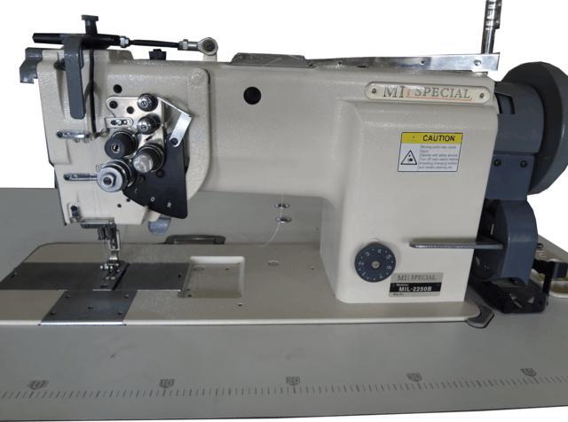 Máquina de 02 Agulhas, Barra Móvel, Lançadeira Grande, Mil Special