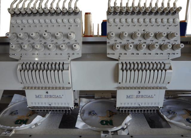 Máquina de Bordar de 08 Cabeças e 12 Agulhas, Mil Special