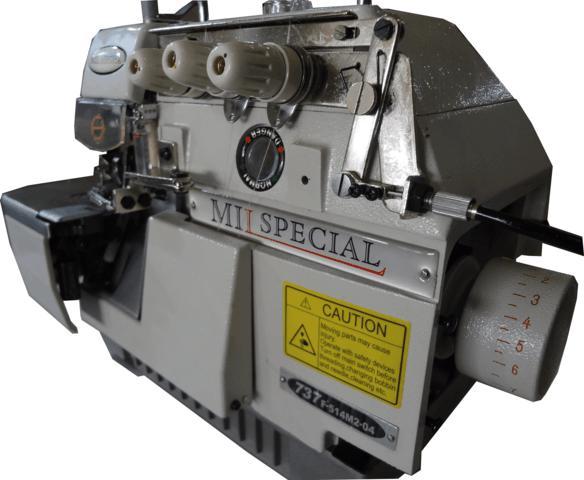 Overlock Industrial, 03 Fios com Embutidor de Correntinha (BK), Mil Special