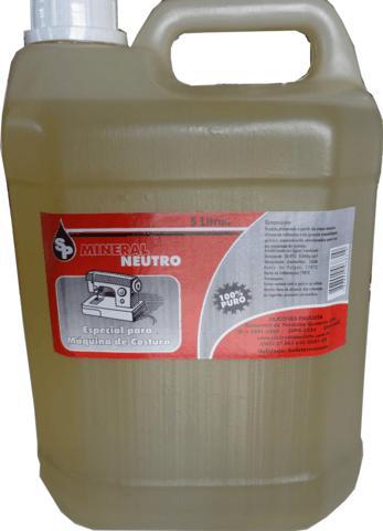 Óleo Mineral Neutro para Máquinas de Costura, 05 Litros