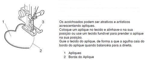 Calcador para Aplicação e Pontos Decorativos (F2) Janome