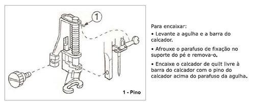 Calcador para Quilting Livre c/ Base Aberta da Janome