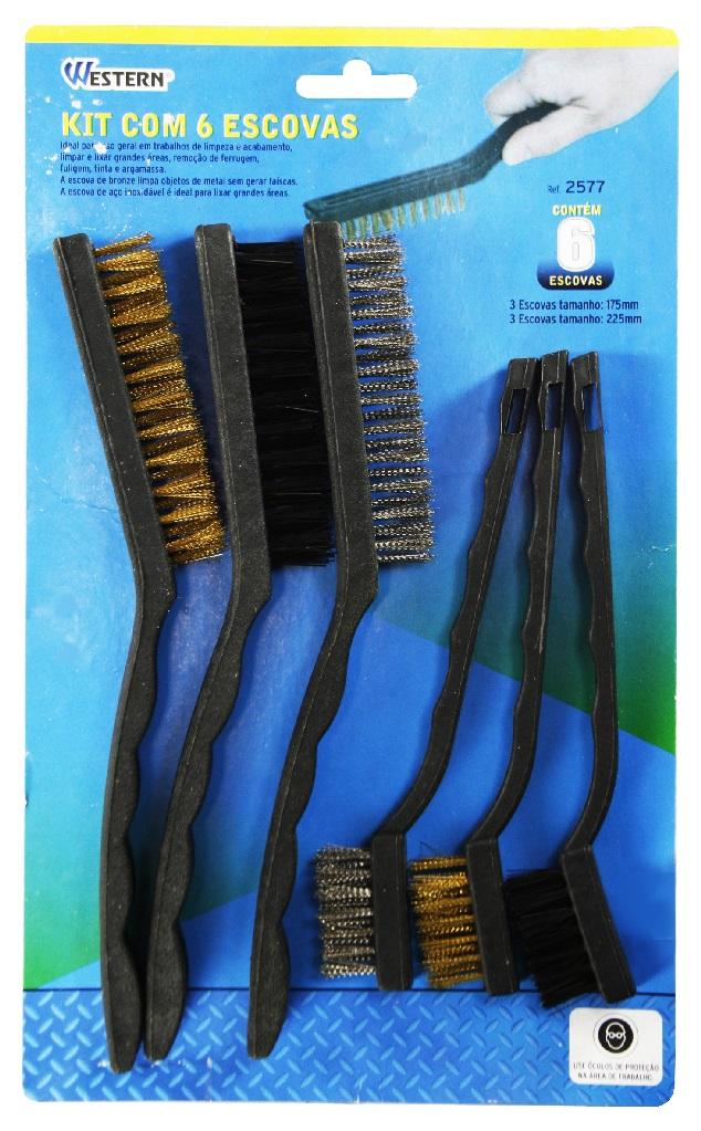Kit Com 6 Escovas de Aço da Western