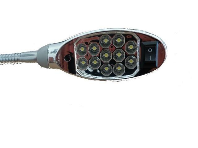 Luminária com 12 Leds,  Bivolt e Haste Flexível