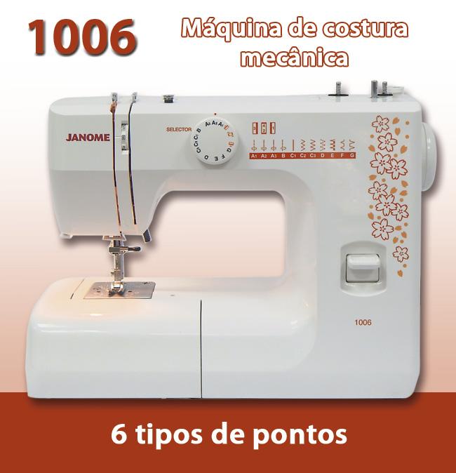 Máquina de Costura Doméstica Janome, 1006
