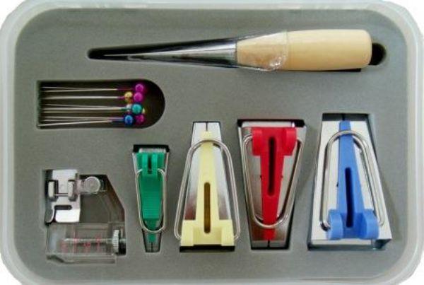 Kit de Sapatilha e Aparelhos Domésticos para fazer Viés - 07 Peças