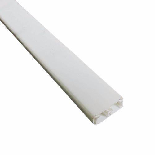 Caneleta de PVC com divisória 20x10x2000MM branca com fita dupla face Ilumi