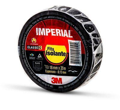Fita Isolante 3M Imperial 18mm x 20 Metros