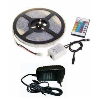 Fita LED RGB (Colors) 5 Metros Com Controle e Fonte