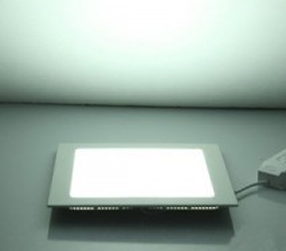 Kit Plafon Led de Embutir 12w Quadrado Branco Frio - 10 Peças