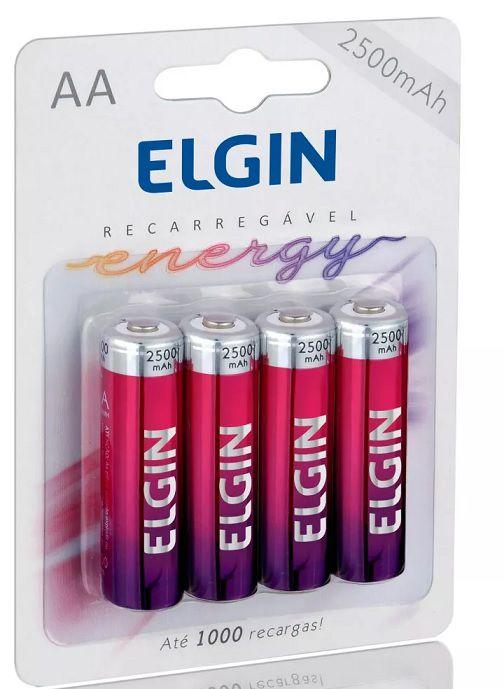 Pilhas Recarregáveis AA 2500 MAH C/ 4 - Elgin