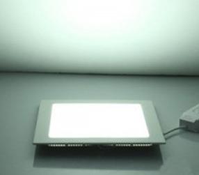Plafon Led de Embutir 24w Quadrado Branco Frio Bivolt