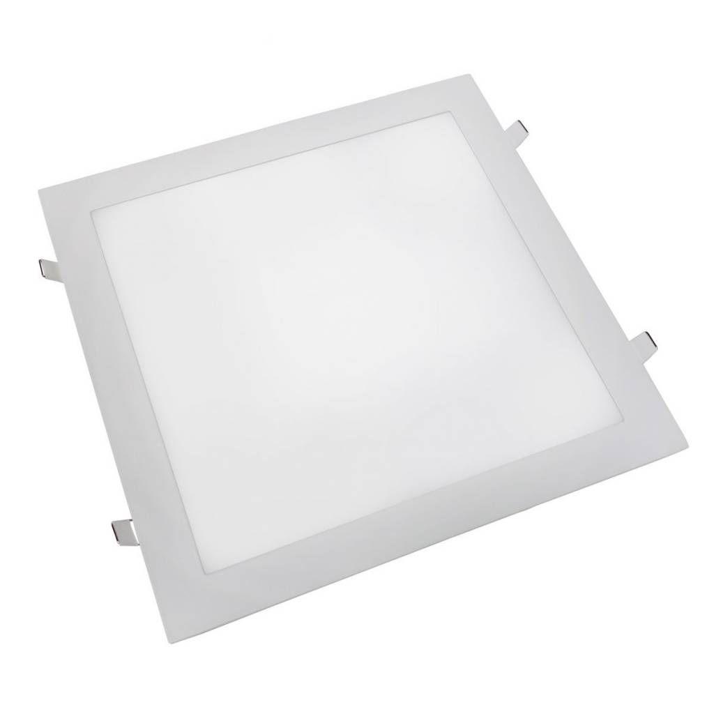 Plafon Led de Embutir 24w Quadrado Branco Quente Bivolt