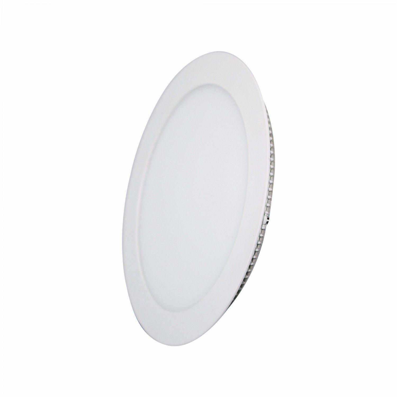 Plafon Led de Embutir 24w Redondo Branco Frio Bivolt