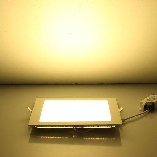 Plafon Led de Embutir 6w Quadrado Branco Quente Bivolt