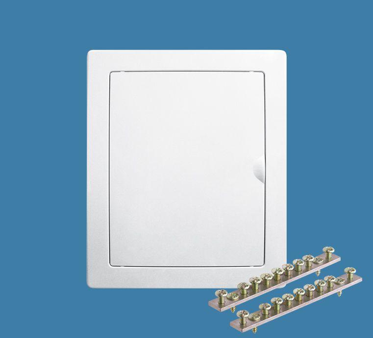 Quadro de Distribuição de Embutir com Barramentos para 12 Disjuntores NEMA ou 16 DIN