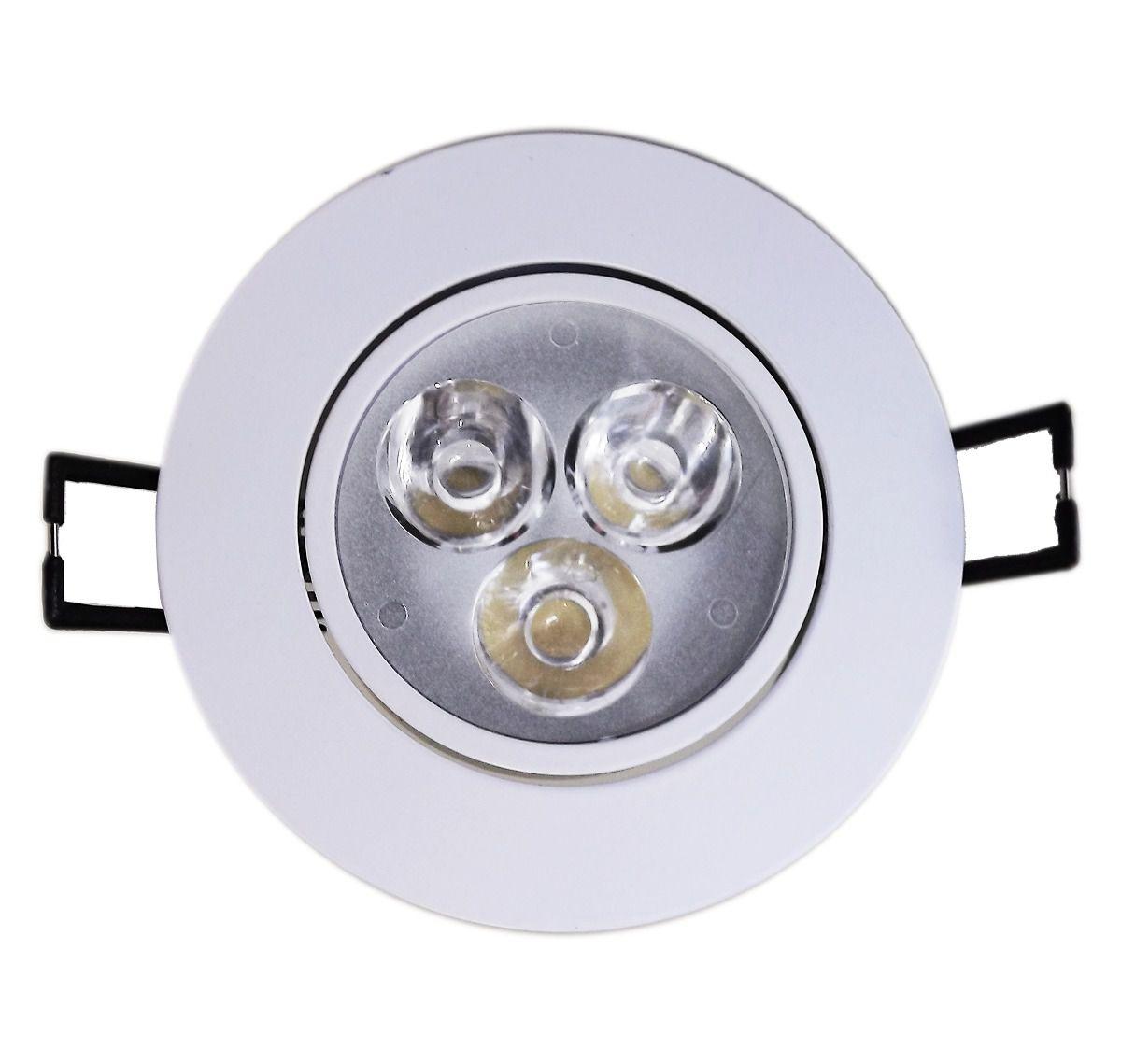 Spot Redondo LED 3W 6500K BF Bivolt
