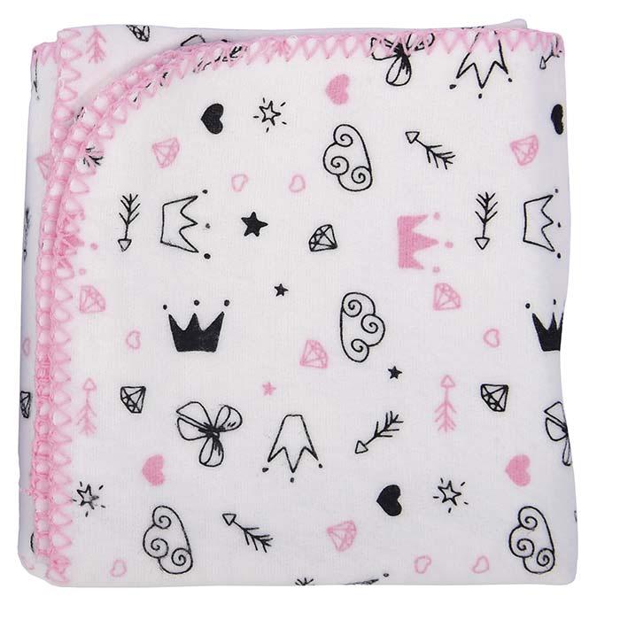 Cobertor Menina 70 x 90 cm Reininho Encantado Minasrey