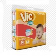 FRALDA INFANTIL DESCARTAVEL VIC BABY M C/90