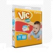 FRALDA INFANTIL DESCARTAVEL VIC BABY XG C/70