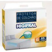 PROTETOR DESCARTAVEL DE COLCHAO HIGIFRAL G C/5