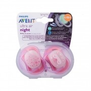 CHUPETA AVENT ULTRA AIR NIGHT ROSA 6-18. MESES C/
