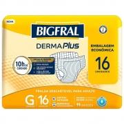 FRALDA GERIATRICA BIGFRAL DERMA PLUS G C/16