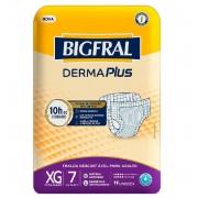 FRALDA GERIATRICA BIGFRAL DERMA PLUS XG C/ 7