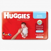 FRALDA HUGGIES SUPREME CARE RN C/34