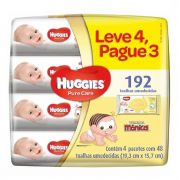 KIT LENÇOS UMED. HUGGIES PURE CARE C/48 LV4 PG3