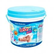 LENÇOS UMEDECIDOS USE IT BABY BALDE C/400 AZUL