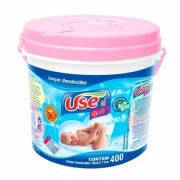 LENÇOS UMEDECIDOS USE IT BABY BALDE C/400 ROSA