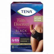 ROUPA INTIMA TENA PANTS DISCREET BLACK G/EG C/8