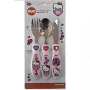 TALHERES DE INOX NUK HELLO KITTY