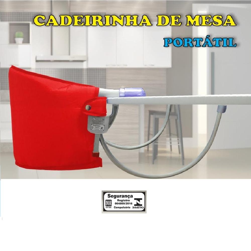 CADEIRA DE MESA SAPECA KIDS VERMELHA  - Ruth Fraldas