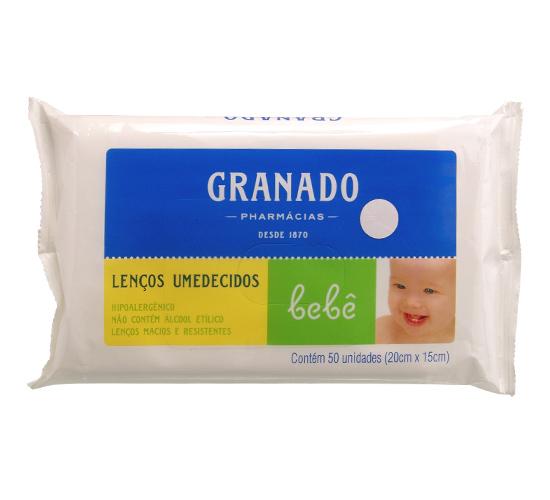 LENCO UMEDECIDO BEBE GRANADO 50 UN  - Ruth Fraldas