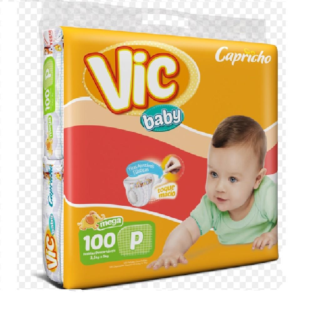 FRALDA INFANTIL DESCARTAVEL VIC BABY P C/100  - Ruth Fraldas